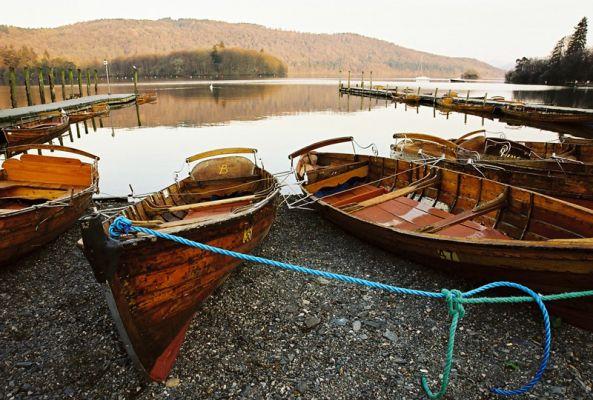 Rowing boats at Lake Windermere